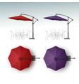 Set of Beach Cafe Bar Pub Umbrella Parasol vector image vector image