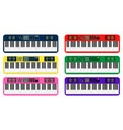 set of color flat style piano roll analog vector image vector image