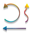 simple set to interface arrows colorful vector image