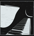 stylized grand piano in retro style vector image