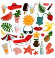 summer accessories set vector image vector image