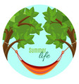 summer life with hammock vector image vector image