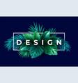 summer tropical design for banner or flyer vector image vector image