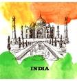 Taj Mahal sketch vector image vector image