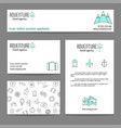 travel business cards templates vector image
