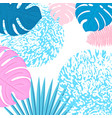trendy tropical design leaves palm monstera vector image vector image