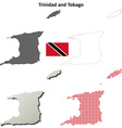 Trinidad and Tobago outline map set vector image vector image