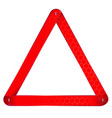 vehicle warning triangle vector image vector image