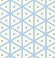 Vintage Hexagon and Circle Pattern on Pastel Color vector image vector image