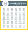 web development outline icons vector image vector image
