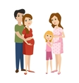 Young pregnant woman character vector image vector image