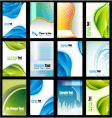 collection of business cards vector image