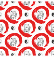 hand drawn seamless pattern with japan fortune vector image