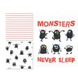 monsters never sleep vector image