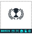 Trophy icon flat vector image