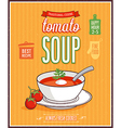 Vintage Tomato Soup Poster vector image