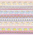 Seamless elephant pattern background3 vector image