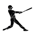 a baseball player silhouette vector image