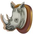 A head of a rhino vector image