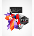 abstract polygonal infographics vector image vector image