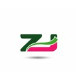 Alphabet Z and J letter logo vector image vector image