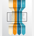 arrow infographic template options banner wit vector image vector image