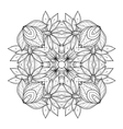 Beautiful Deco Monochrome Contour Square vector image vector image