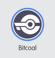 bitcoal - cryptocurrency vector image vector image