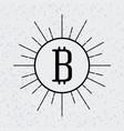 bitcoin virtual money design vector image vector image