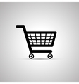 Black shopping cart icon with shadow vector image vector image