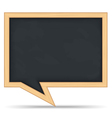 Blackboard Speech Bubble vector image vector image