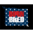 born n bred - red white n blue usa stars vector image vector image