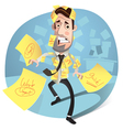 Businessman concept vector image vector image