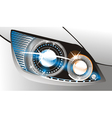 Car headlight vector image vector image