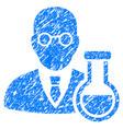 chemist grunge icon vector image vector image