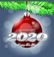 christmas ball on branches a christmas tree vector image