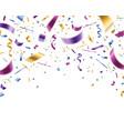 confetti falling multicolor foil and paper vector image vector image