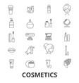 cosmetics beauty makeup lipstick perfume vector image vector image