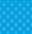 crossed baseball bats and ball pattern seamless vector image vector image