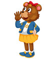 cute female bear character vector image vector image