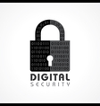 Digital Security Concept vector image vector image