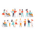 disabled people having a good time with their vector image vector image