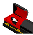 Dracula in coffin Vampire Count in an open coffin vector image vector image