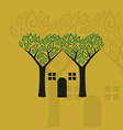 ecological smart house vector image vector image