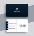 elegant simple black and white business card vector image vector image