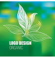 floral Logo new 2 vector image vector image