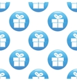 Gift box sign pattern vector image
