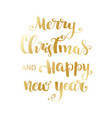 gold happy new year brush lettering text vector image vector image