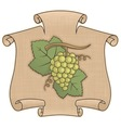 grapes with scroll vector image vector image