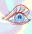 Graphic abstracy colorful figure in the eyes of vector image vector image